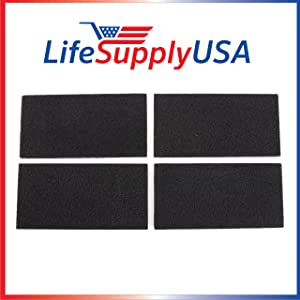 LifeSupplyUSA 2 Packs of 4 Replacement Carbon Filters for Holmes HAPF30 HAPF-30D