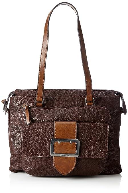 Damen Lee Shoulder Bag Schultertasche, Schwarz (Black Comb), 10x28x32 cm Tamaris