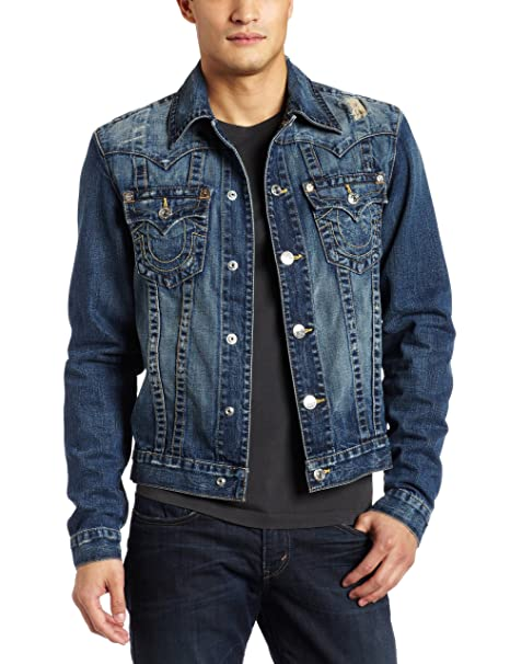Amazon.com: True Religion Basic Jimmy - Chaqueta para hombre ...