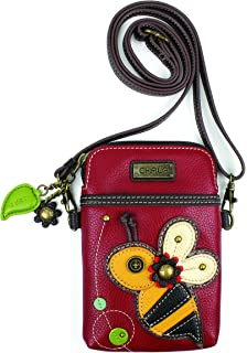 a621bc90a01a Chala Crossbody Cell Phone Purse - Women PU Leather Multicolor Handbag with  Adjustable Strap
