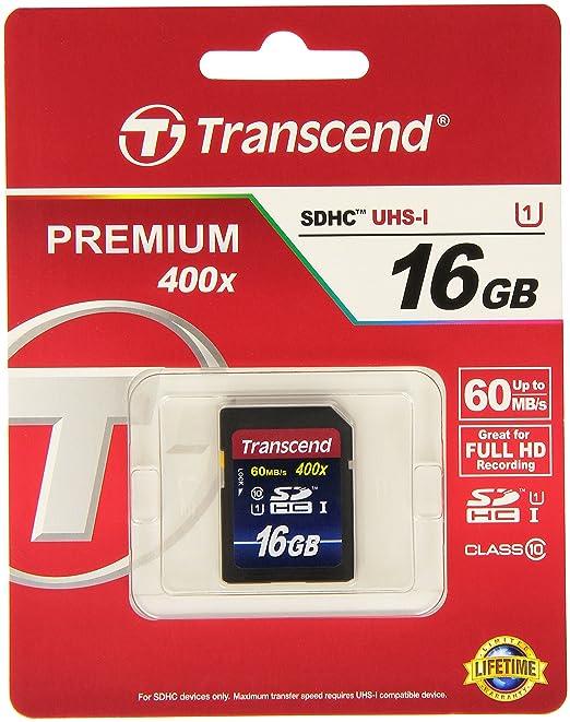 630 opinioni per Transcend TS16GSDU1 Scheda di Memoria SDHC da 16 GB, UHS-I 300x, Classe 10