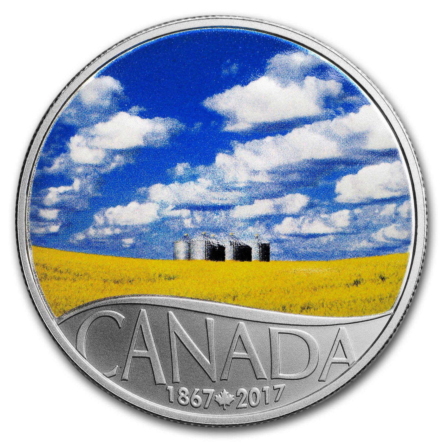 1867-2017 Canola Field Agriculture $10 Pure Silver Coin Canada/'s 150th Landscape