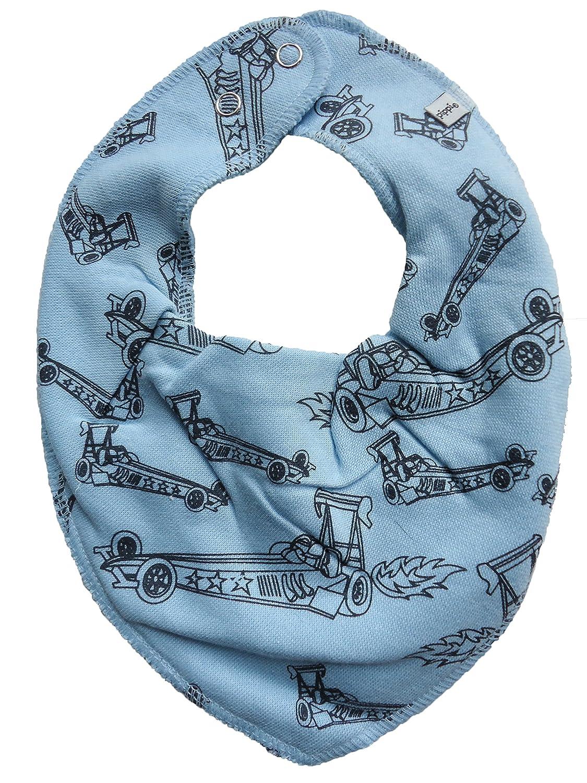 Pippi ♥ Baby Kinder Halstuch Dreieckstuch ♥ hellblau mit Rennwagen ♥