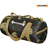 Kore PHANTOM-9.0 Gym Bag with One Shoe Compartment, One side Pockets and Carry Handels (Camo)