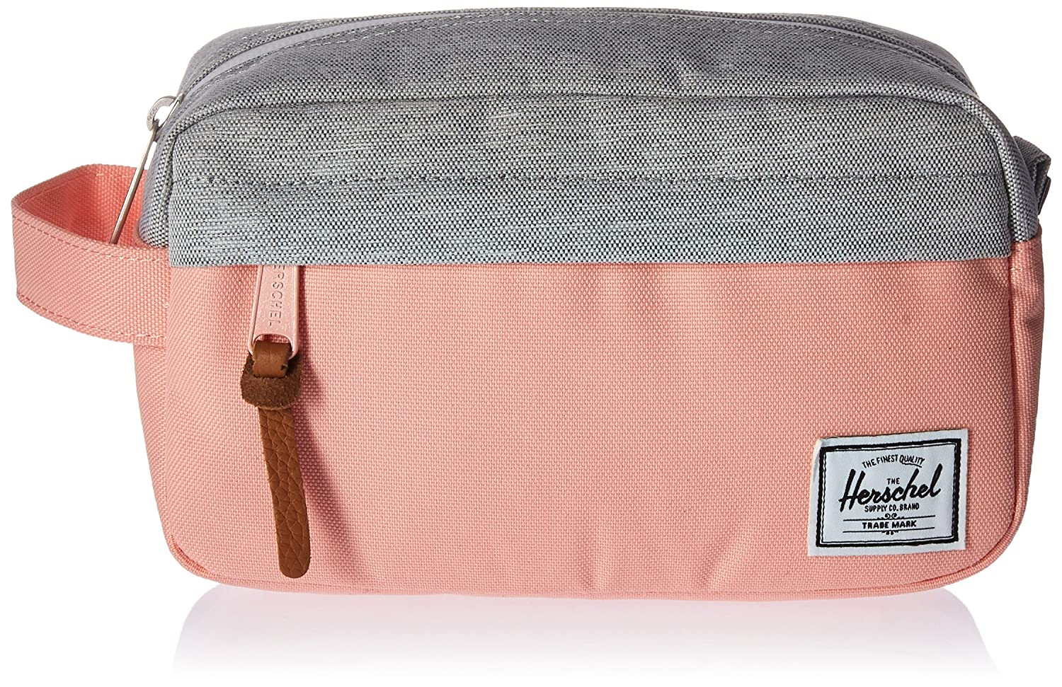 eb86b361abdd Herschel Chapter Carry On 3 Litre Travel Wash Bag Peach Light Grey  Crosshatch  Amazon.co.uk  Clothing