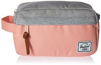 083f0ddfb1d Herschel Chapter Carry On 3 Litre Travel Wash Bag Peach Light Grey  Crosshatch