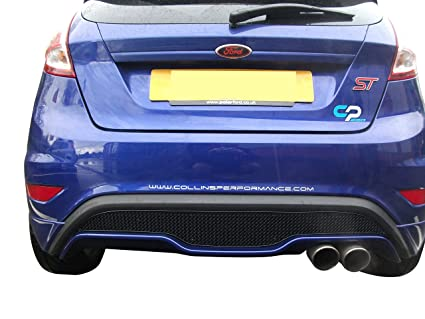 Zunsport Compatible Ford Fiesta ST Mk 7.5 - Rear Grille - Black Finish (2013 to