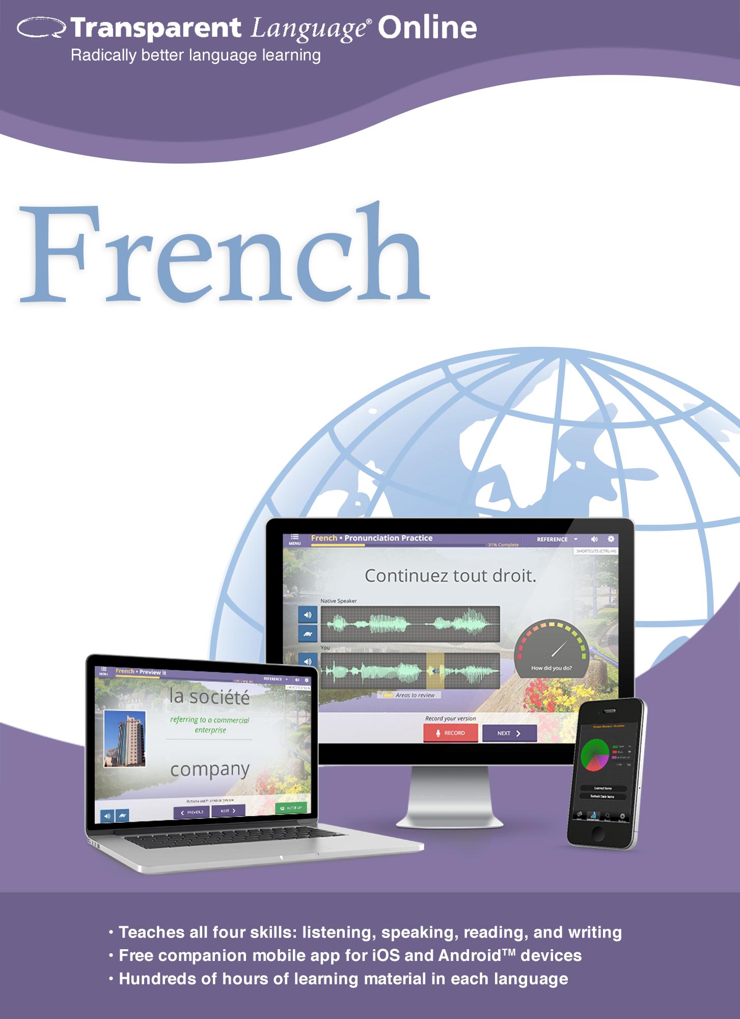 Transparent Language Online - French - 12 Month Subscription [Online Code]