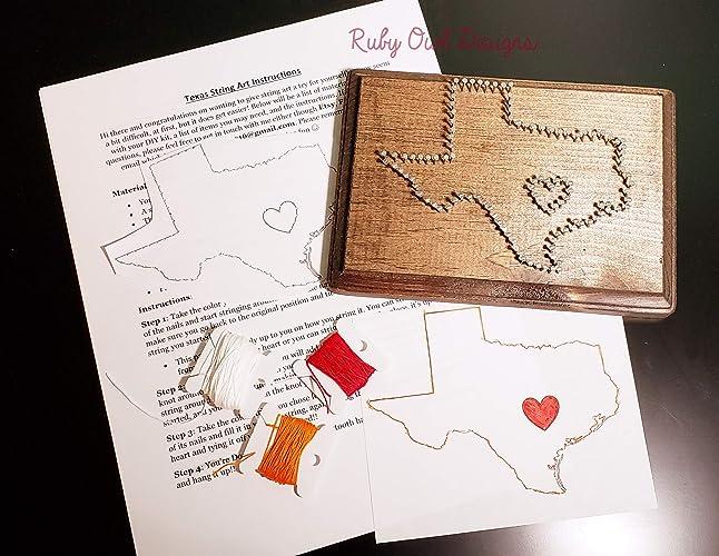 Amazon State Of Texas Diy String Art Sign Plaque Diy Handmade