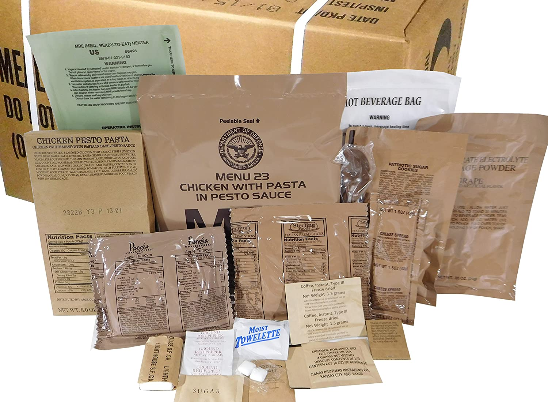MREs (Meals Ready-to-Eat) Box B, Genuine U.S. Military Surplus ...