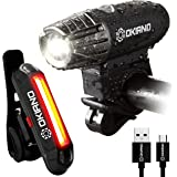 USB Rechargeable Bike Light Set- Super Bright 400 Lumens Bike Headlight +120 Lumens, LED High Brightness Bike TAIL LIGHT. Easy Installation & WATER-RESISTANT LED Bike Lights For Safe Cycling At Night