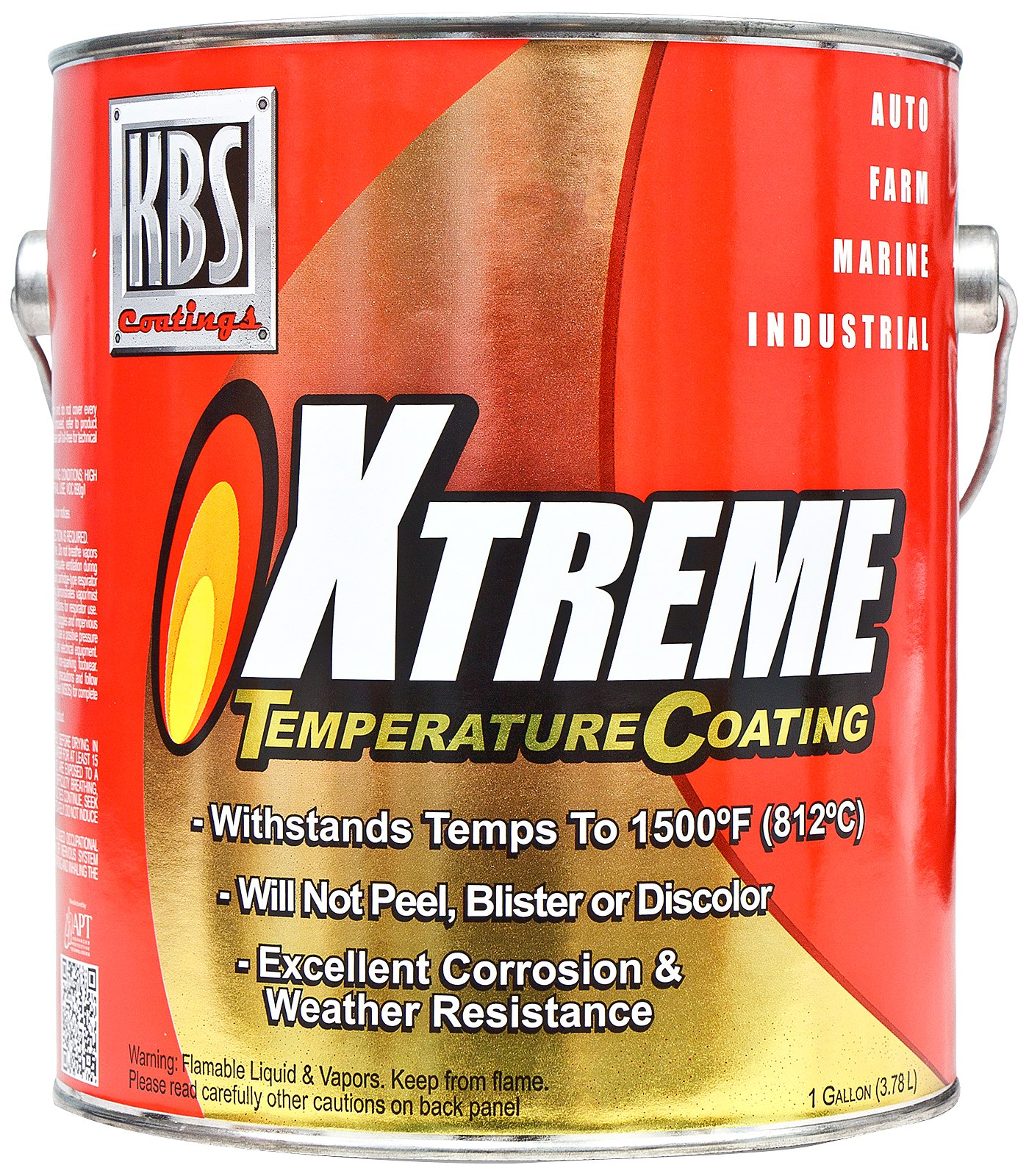 KBS Coatings 65503 Aluminum Xtreme Temperature Coating - 1 Gallon by KBS Coatings