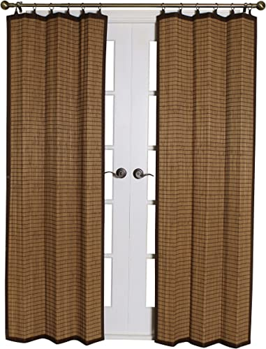 Bamboo BRP074084-11 Bamboo Ring Top Curtain, 40 x 84- Inches, Colonial Brown