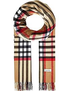 c0216f91facf Ornella Venturi Foulard pour femme homme en écharpe à carreaux en damier  tendance à carreaux