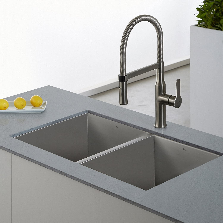 Kraus KPF 1640SS Modern Nola Single Lever Flex mercial Style