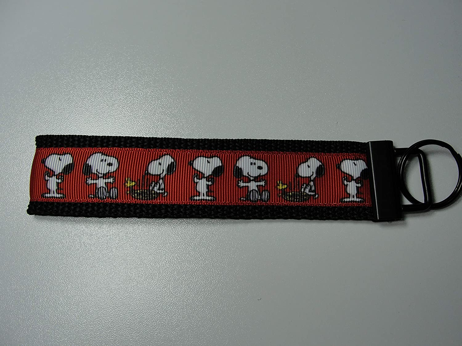 Peanuts Snoopy Woodstock on Red Keyfob Strap or Keychain - Purse or Wallet Strap Wristlet