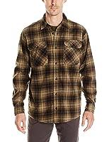 Wrangler Men's Long Sleeve Plaid Fleece Shirt