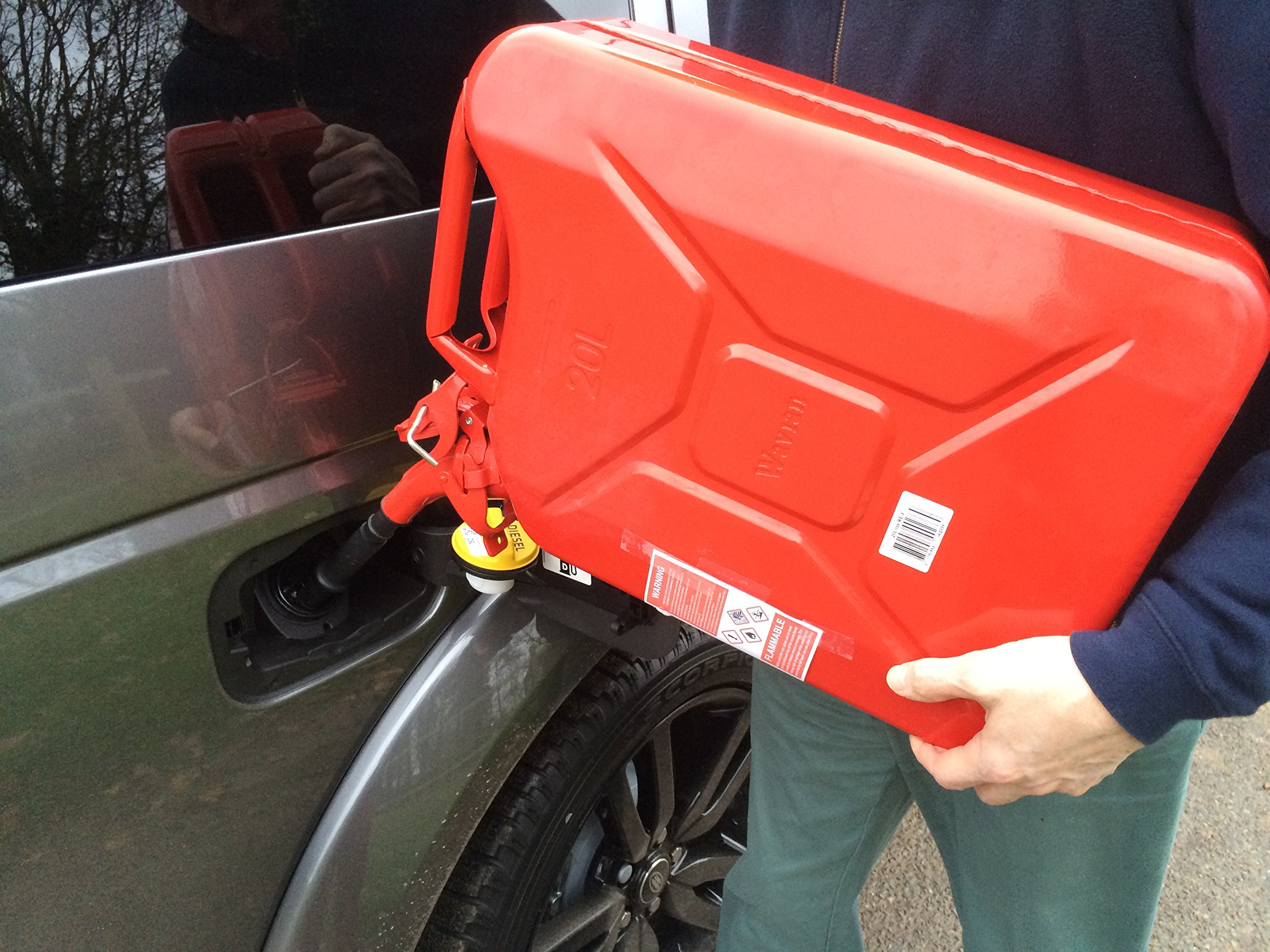 Red Wavian Nato Military Spec. Jerry Can