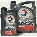 Aceite de motor TOTAL QUARTZ INEO ECS 5W30 6 litros (1x5 lts + 1x1 lt
