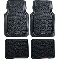 CFMBX1DG7100 Black Coverking Custom Fit Front and Rear Floor Mats for Select Dodge Stratus Models Nylon Carpet