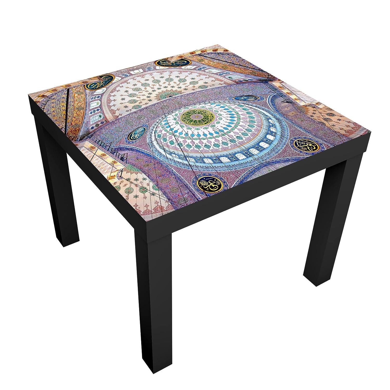 Bilderwelten Tavolino design - Blue Mosque In Istanbul - 55x55x45cm, Tabella dei colori: Tavolo nero, Dimensione: 55 x 55 x 45cm PPS. Imaging GmbH