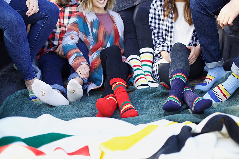 Pendleton Womens National Park Merino Wool Crew Socks