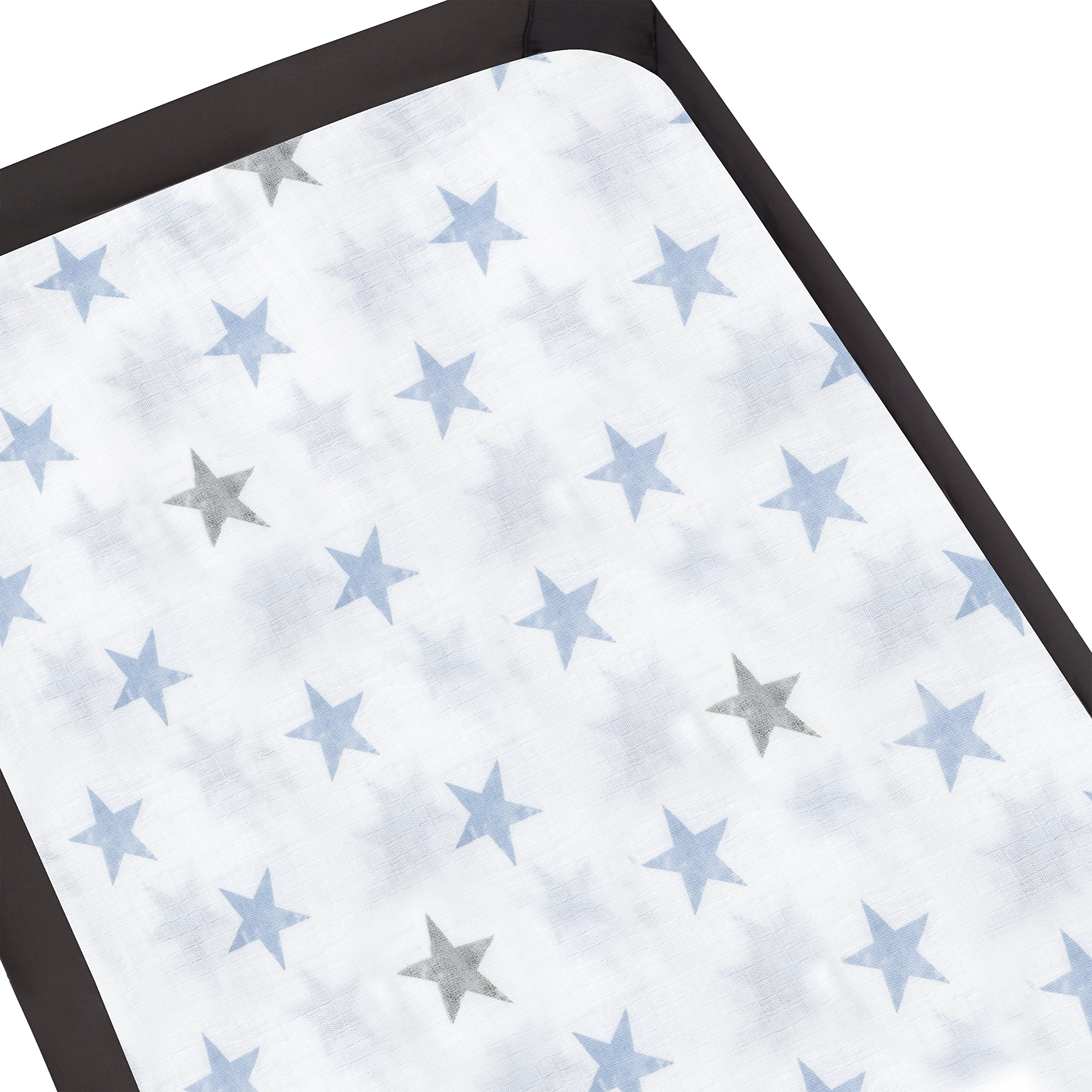 Aden by Aden + Anais Pack 'n Play Playard Crib Sheet, 100% Cotton Muslin, Super Soft, Breathable, Snug Fit Dapper - Stars
