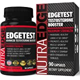 NutraEdge Men's Testosterone Supplement (90 Caplets) – Natural Stamina, Endurance and Strength Booster – Fortifies Metabolism – Promotes Healthy Muscle Growth