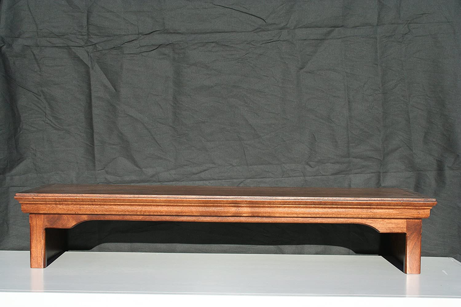 Ideas to Home TV Monitor Riser Stand Traditional Style in Alder Wood 26 Wide, Mocha