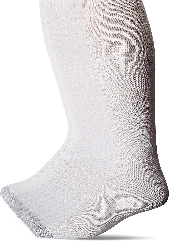 Hanes Men's FreshIQ Over The Calf Tube Socks (Pack of 12)