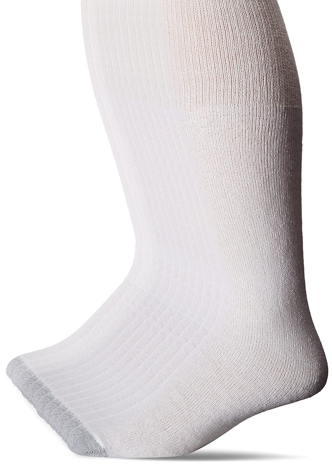 Hanes Men's FreshIQ Over The Calf Tube Socks (Pack of 12) White 10-13/Shoe Size 6-12 Hanes Men's Socks 180V12