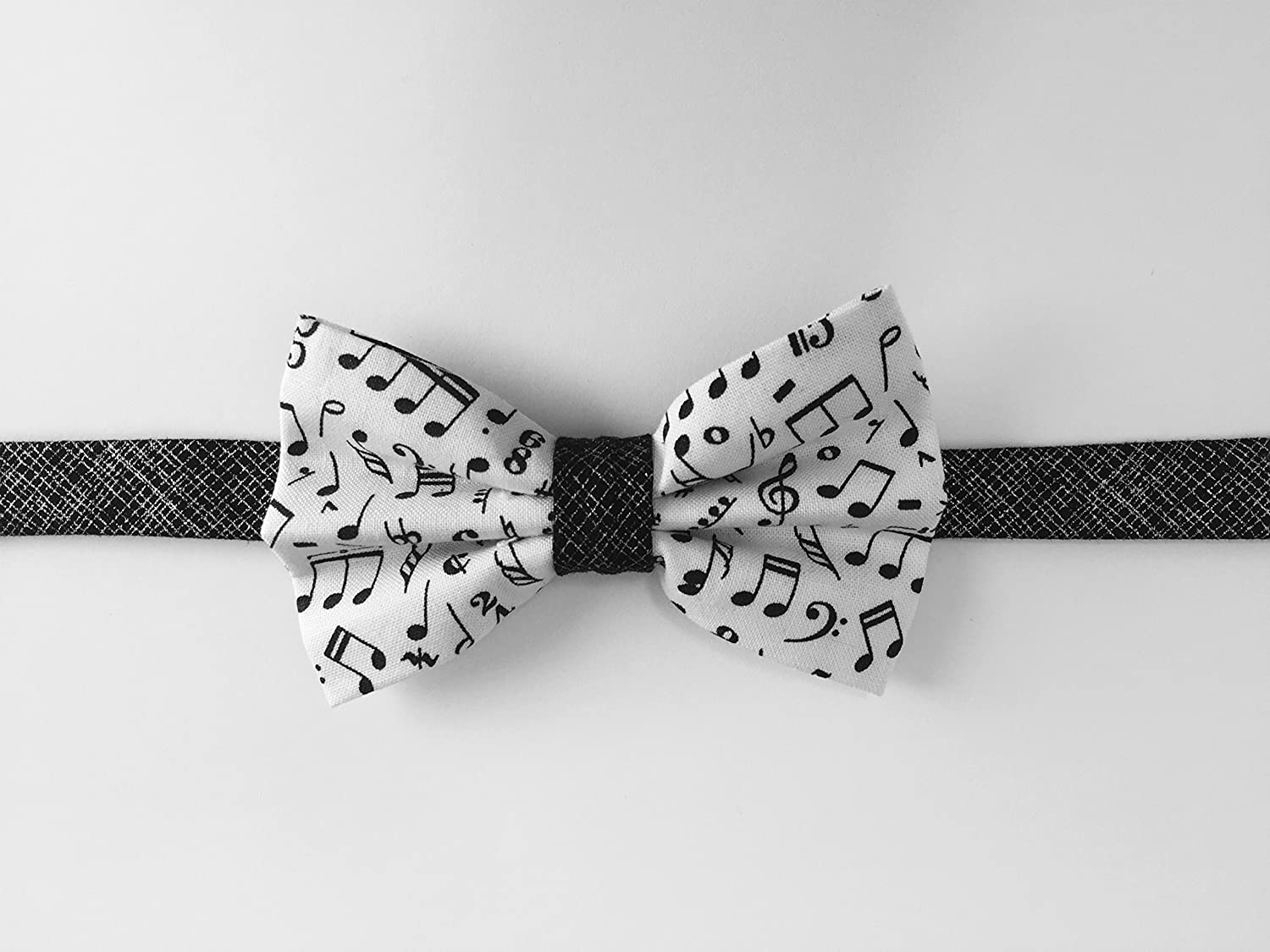 Boy bowtie with music notes