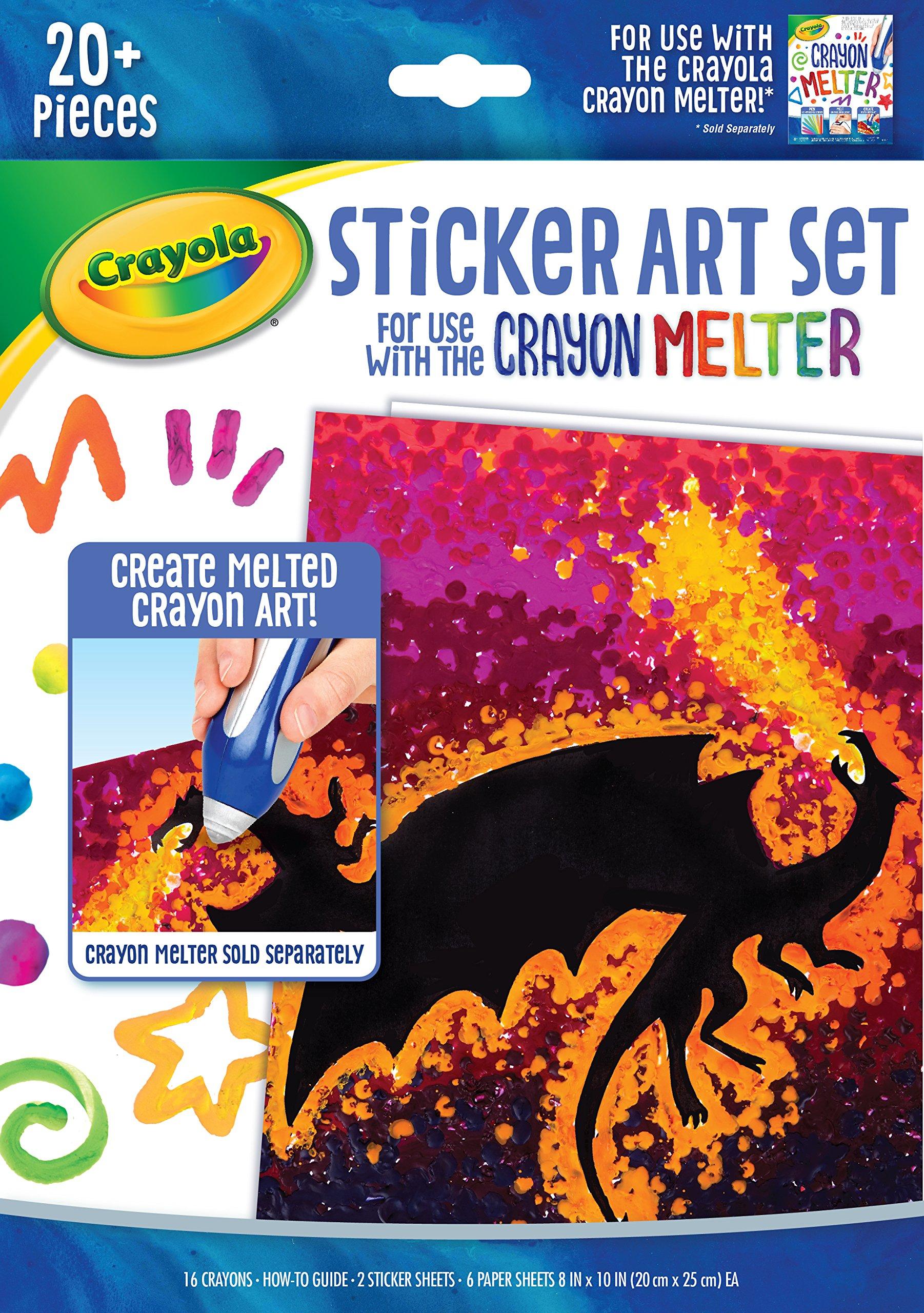 Crayola Ultimelt Pen Multisurface Crayon Melting Creative Kit for Arts Crafts