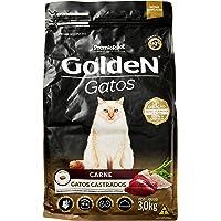 Premier Pet Ração Golden para Gatos Adultos Castrados, Raça Adulto, Sabor Carne, 3kg