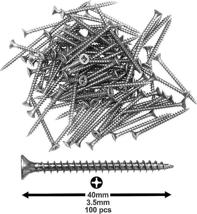 passenden Torx Bit Spanplattenschrauben 4,5x70mm 50 St TORX Schrauben Holzschrauben inkl