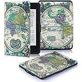 DHZ Kindle Paperwhite Custodia - Case Cover Custodia Amazon Nuovo Kindle Paperwhite 1/2/3 Adatto Tutte le versioni: 2012, 2013, 2014, 2015,2016 Nuovo 300 ppi),Antica mappa del mondo