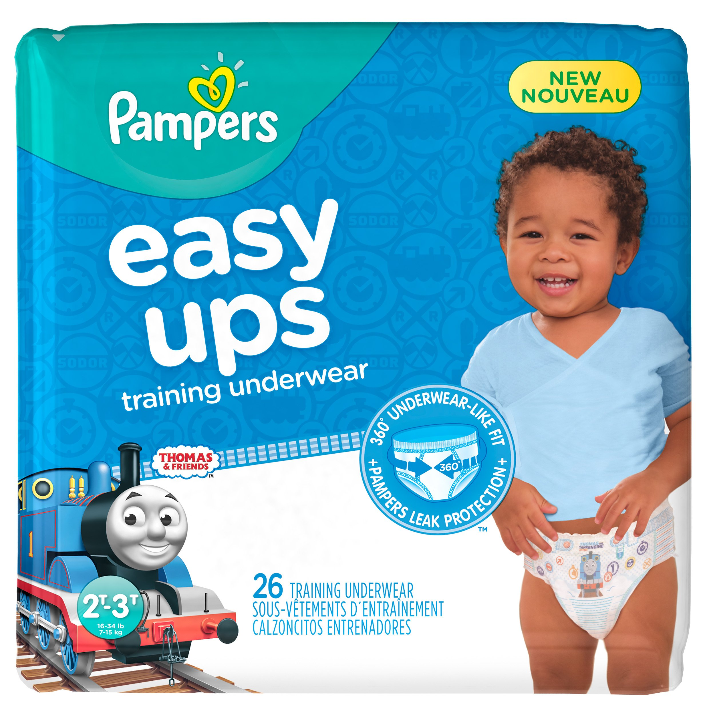 Pampers Easy Ups Training Pants Pull On Disposable Diapers for Boys Size 4 (2T-