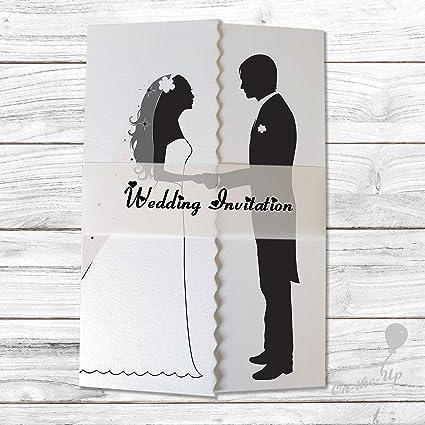 Silhouette - Invitaciones de boda o noche con banda de ...