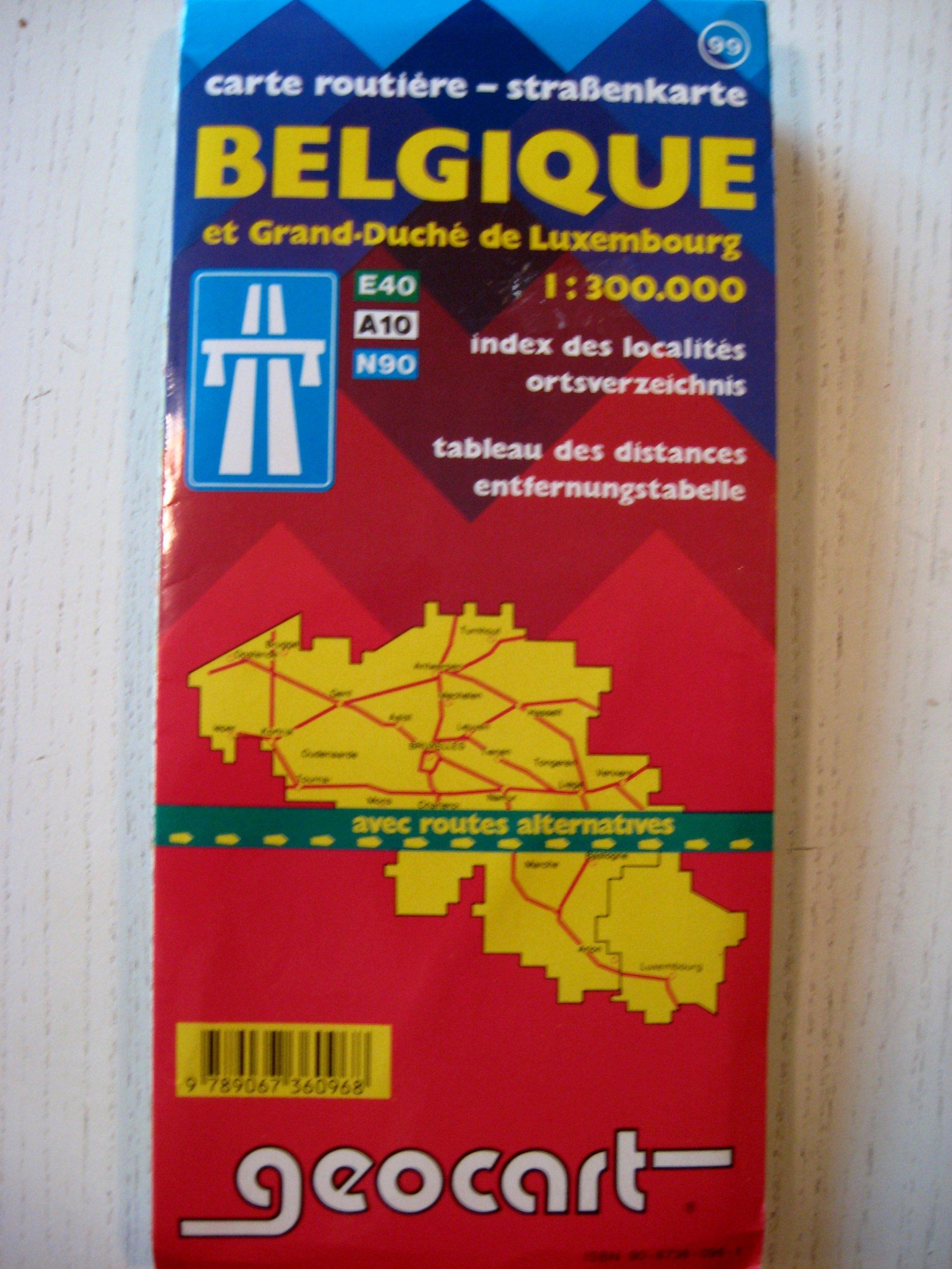 CARTE ROUTIERE-STRAbENKARTE ET GRAND-DUCHE DE LUXEMBOURG