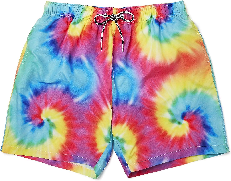 Boardies Mens Patterned Mid-Length Swim Shorts