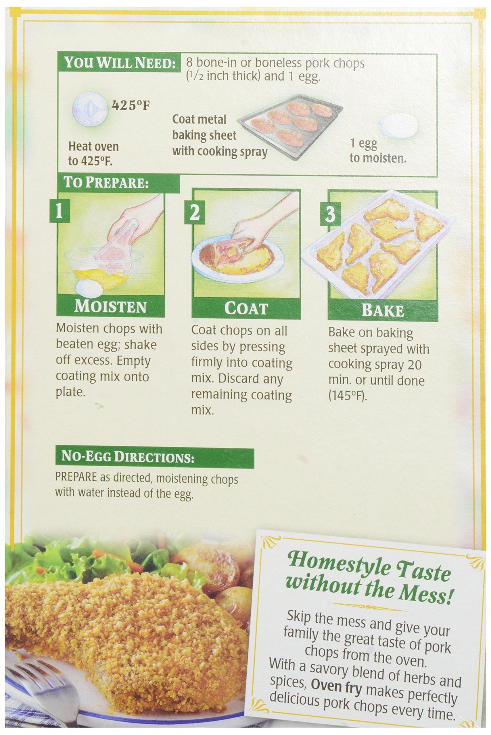 Kraft Oven Fry Seasoned Coating Mix for Pork, Extra Crispy, 4.2 oz(pack of 8) by Kraft Oven Fry (Image #5)