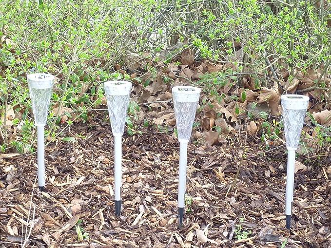 12 X Wunderschöne Led Solarleuchte Garten Wegeleuchte Mit Klarem
