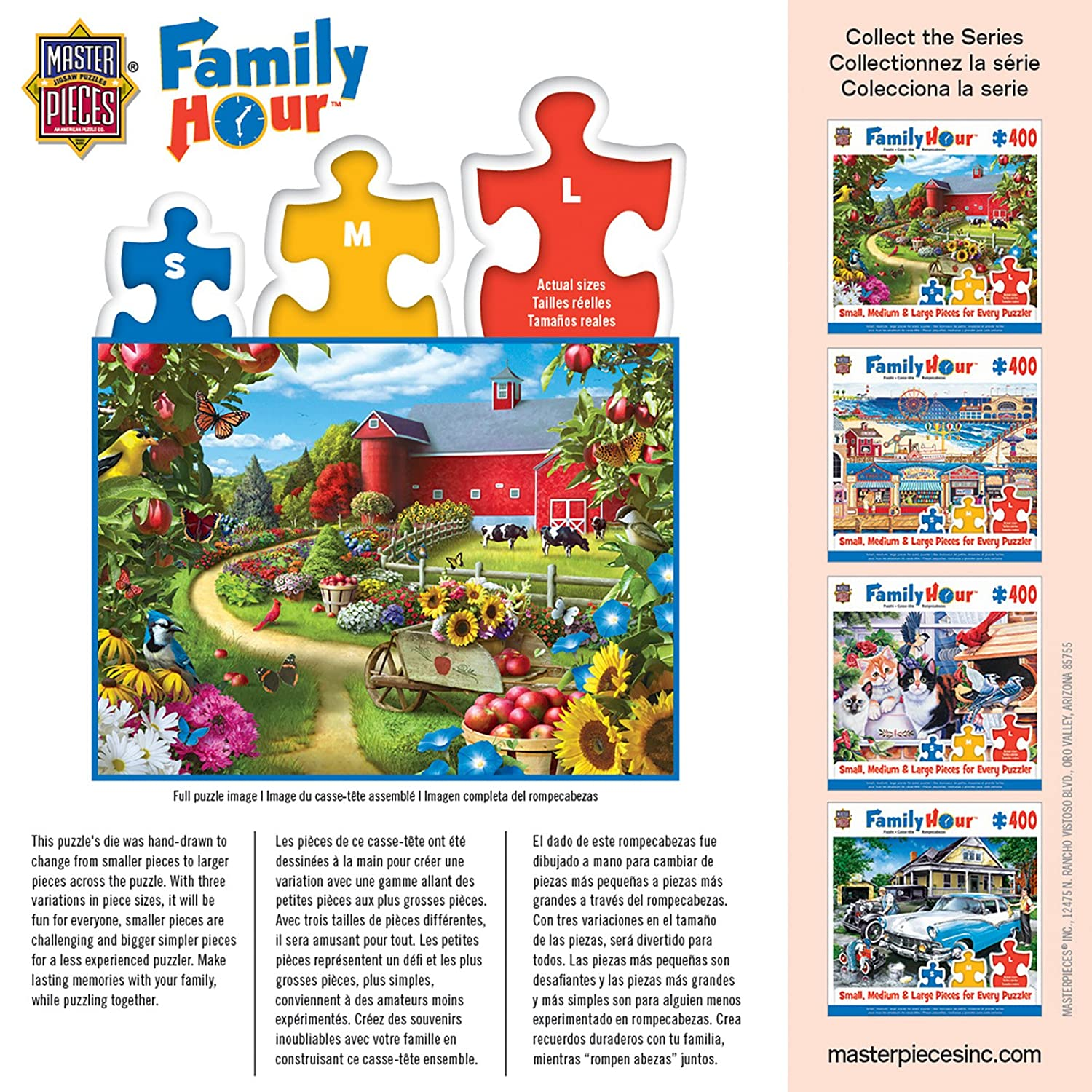 Amazon.com: MasterPieces Family Hour Apple of My Eye Farm with Barn Scene Jigsaw Puzzle, 400-Piece: Toys & Games