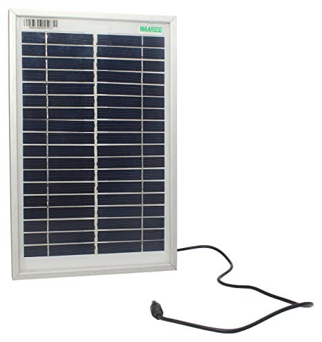 Sure Power 5 Watt Solar Panel (White, 45 cm x 20 cm x 3 cm)