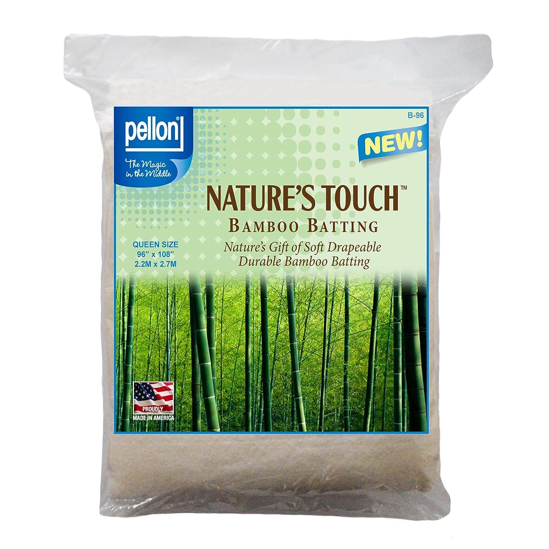 Pellon B-96 Nature's Touch Bamboo Blend Batting W/scrim - Queen 96 X 108