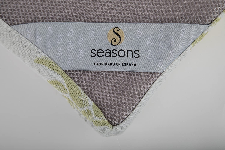 Seasons - Topper viscoelástico de 6 cm para cama de 90x190, Aloe vera y malla antideslizante: Amazon.es: Hogar