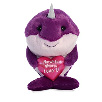 "Aurora - Valentine Items - 9"" Narwhals Always Love You: Toys & Games"