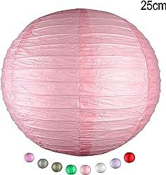 EinsSein 1 x LAMPION Medium rosa DM 25cm Hochzeit Wedding Laterne Papierlampion