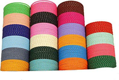 CHAUHAN COLLECTION Ethnic Indian Bollywood Plain Costume Bangles Box Multi Color Party Wear Wedding Jewelry