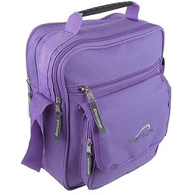 Ladies Mens Medium Canvas Messenger Shoulder cross body travel Utility Work Bag